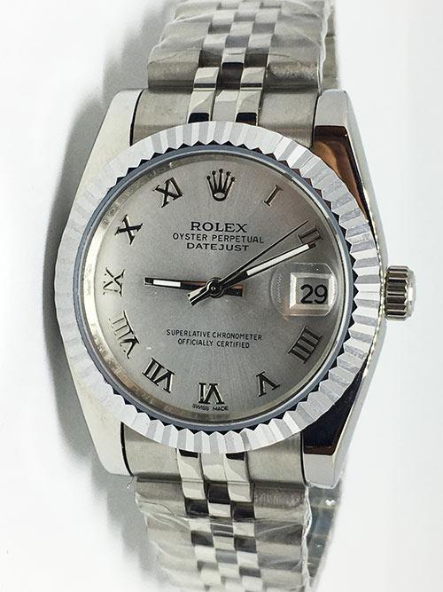 Replica horloge Rolex Datejust 43 (36mm) (Jubilee band) Grijze wijzerplaat