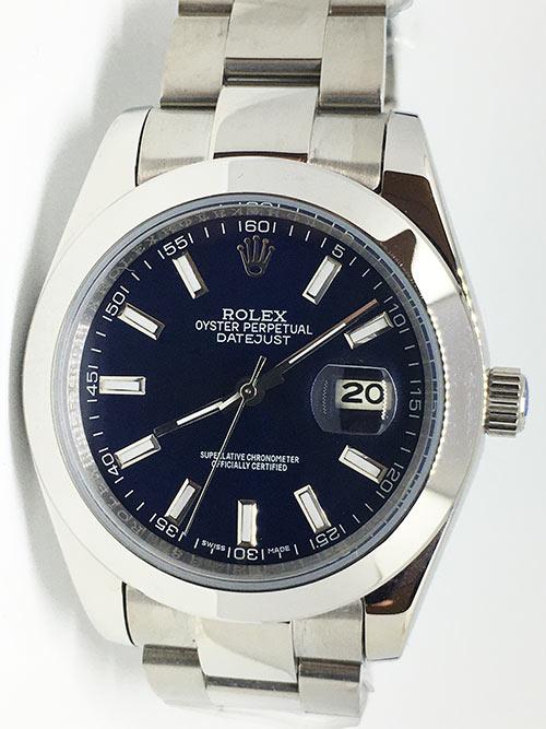 Replica horloge Rolex Datejust 19 (40mm) 126300 Oyster (Blauwe wijzerplaat)