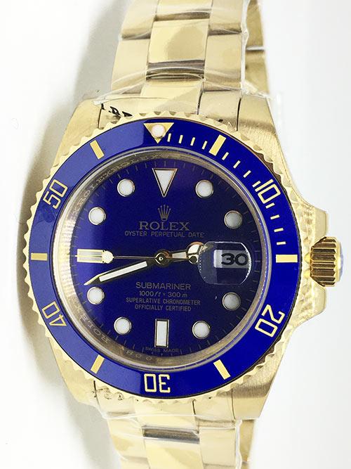 Replica horloge Rolex Submariner 07 Date (41mm) 126618LB (Gold)
