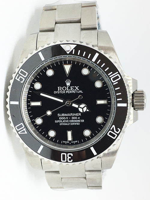 Replica horloge Rolex Submariner 07(41mm) 124060 Black (zonder Date)