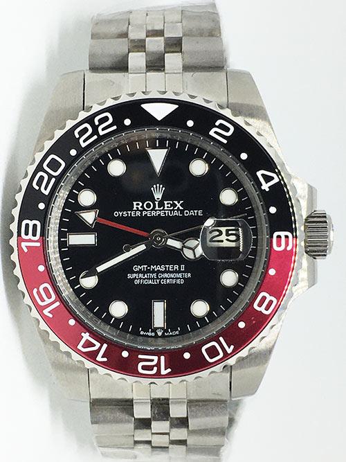 Replica horloge Rolex Gmtmaster ll 11 (40mm) 16710 Coca Cola Zwart/rood Jubilee