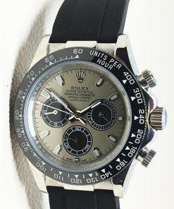 Replica horloge Rolex Daytona 10 cosmograph (40mm) 116519LN Rubbere band/Grijze wijzerplaat
