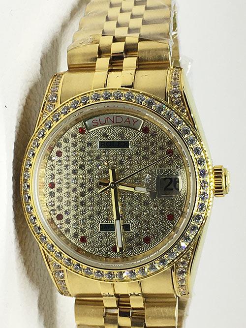 Replica horloge Rolex Day-Date 21 (36mm) Diamonds (Gold) Jubilee