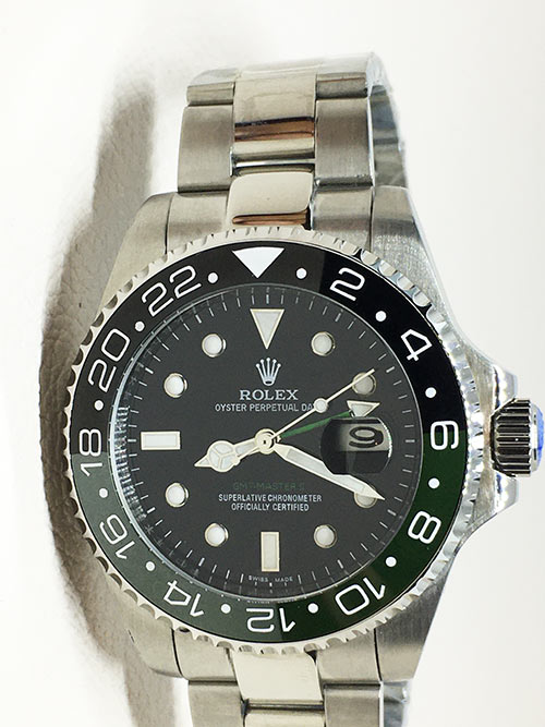Replica horloge Rolex Gmt-master ll 13 (40mm) Staal (Zwart/groen) automatic126710 (Oyster band)