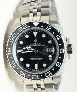 Replica horloge Rolex Gmtmaster ll 12 (40mm) Staal (Zwart) 126710