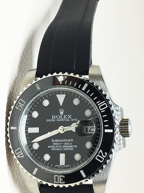 Replica horloge Rolex Submariner 09 (41mm) 126610LN Date (Rubber) Zwart Black