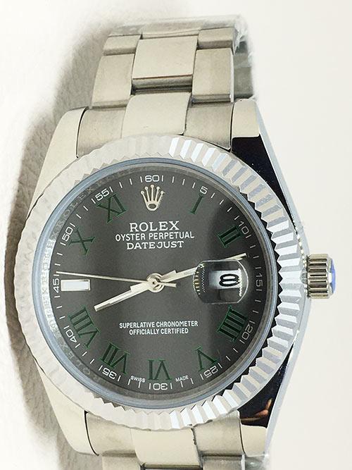 Replica horloge Rolex Datejust 16 126334 40mm Grijze wijzerplaat (Romeinse cijfers) Rodium