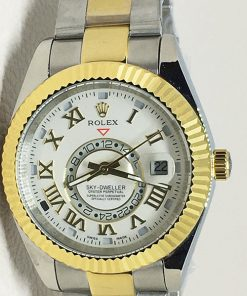 Replica horloge Rolex Sky dweller 06 (42mm) 326933 Bicolor (witte wijzerplaat)