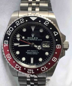 Replica horloge Rolex Gmt-Master ll 11 (40mm) 16710BLNR Coca Cola Zwart/rood Jubilee band -Automatic-Top kwaliteit!