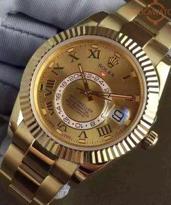 Replica horloge Rolex Sky dweller 07 (42mm) 326933 Gold (Gouden wijzerplaat) Top kwaliteit!