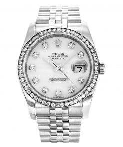 Replica horloge Rolex Datejust Dames 06 (36 mm) (Jubilee band) (Witgoud) 116244