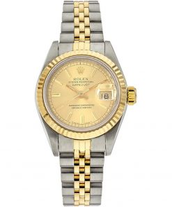 Replica horloge Rolex Datejust Dames 04 (28mm) Goude wijzerplaat(Jubilee band) (Bi-color) 69173