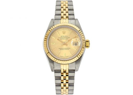 Rolex Datejust 69173 Champagne front e1604338864182