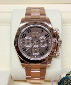 Replica horloge Rolex Daytona 21 cosmograph (40mm) 116505 Rose Gold (Choclate) Bruine wijzerplaat