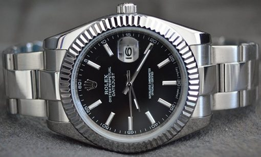 Replica horloge Rolex Datejust 07 (40mm) 126334 Oyster (Zwarte wijzerplaat) Oysterband automatic