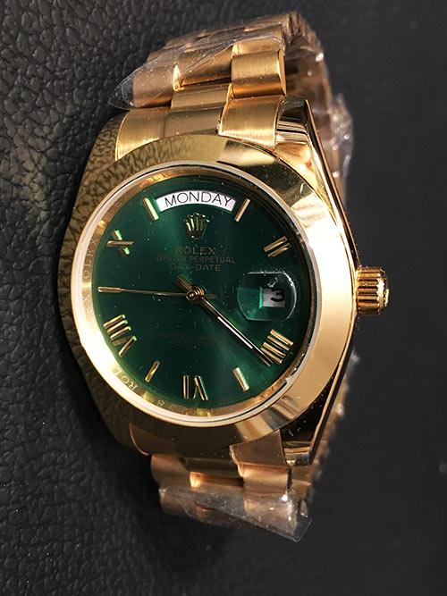 Replica horloge Rolex Day-Date 08/2 (40mm) Groene wijzerplaat(President band)