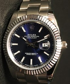 Replica horloge Rolex Datejust 23 126334 41 mm Blauwe wijzerplaat /Blue dial