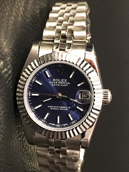Replica horloge Rolex Datejust Dames 12 (28 mm) (Jubilee band) ( Blauwe wijzerplaat) Automatic