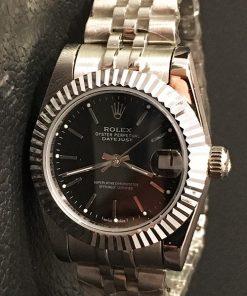 Replica horloge Rolex Datejust Dames 13 (28 mm) (Jubilee band) (Zwarte wijzerplaat) Automatic