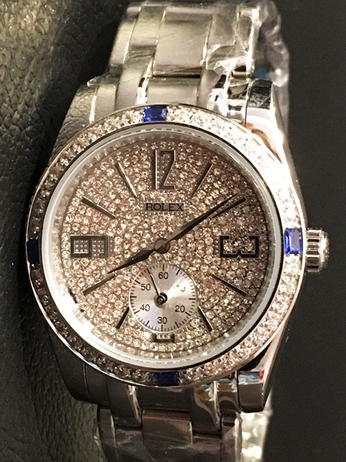 Replica horloge Rolex Day-Date 27 (36mm) Full Diamonds (Witgoud)