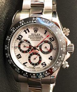 Replica horloge Rolex Daytona 08 cosmograph (40mm) Witte wijzerplaat met nummers (Automatic)