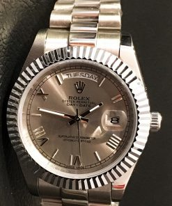 Replica horloge Rolex Day-Date 20 (40mm) 228238 President band (Grijze wijzerplaat)
