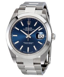 Replica horloge Rolex Datejust 19/2 (41 mm) 126300 Oyster (Blauwe wijzerplaat) Automatic