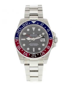 Replica horloge Rolex Gmtmaster ll 01/1 (40mm) 116719BLRO Pepsi rood/blauw Oyster band automatic