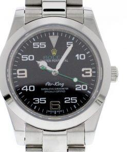 Replica horloge Rolex Air King 01/1 (40mm) 116900 Oystersteel-band, zwarte wijzerplaat