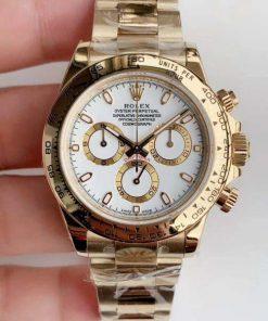 Replica horloge Rolex Daytona 25 cosmograph (40mm) 116505 -Yellow Gold -witte wijzerplaat-Automatic-Top kwaliteit!