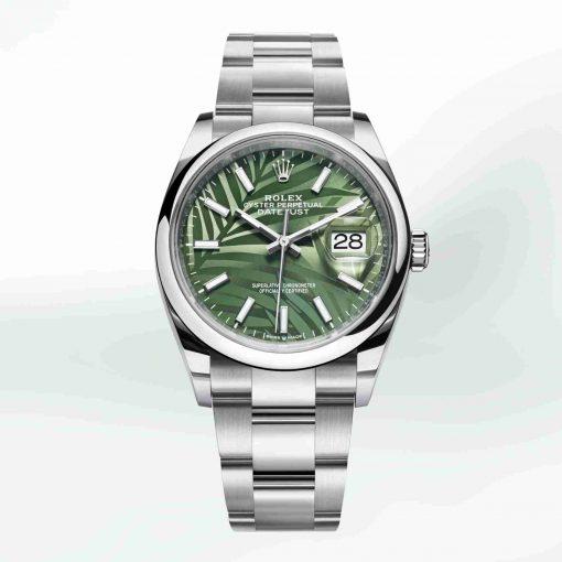 Replica horloge Rolex Datejust 18/1 126200 (36 mm) Olijfgroene wijzerplaat Oyster band /Automatic/2021