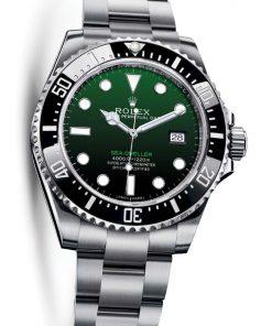 Replica horloge Rolex Sea Dweller Deepsea 08 126660 Groen/Zwarte wijzerplaat (44mm) Green edition Automatic top kwaliteit!