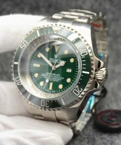 Replica horloge Rolex Sea Dweller Deepsea 08 Challenge Edition 116660 groene wijzerplaat (52 mm) Automatic top kwaliteit!