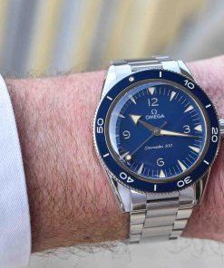 Omega Seamaster steel blue dial
