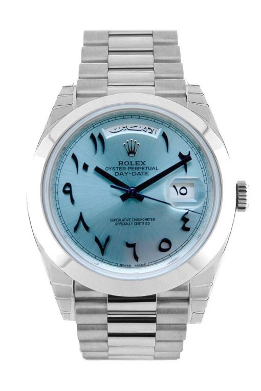 Rolex Day-date President 40mm Platinum Ice Blue