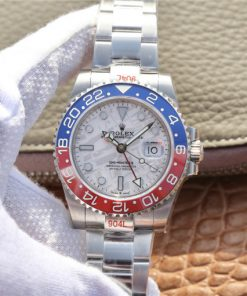 Replica horloge Rolex GMT-Master II 09/2 (40mm) m126719blro Meteorite rood/blauw Oyster band automatic -Top kwaliteit!
