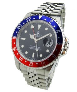 Replica horloge Rolex Gmt-Master ll 01/4 (40mm) 16710 Pepsi cola rood/blauw Jubilee band automatic Vintage-Top kwaliteit!
