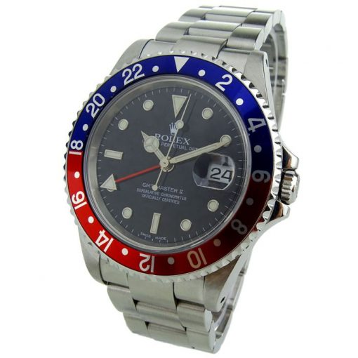 Replica horloge Rolex Gmt-Master ll 01/3 (40mm) 16710 Pepsi cola rood/blauw Oyster band automatic -Top kwaliteit!
