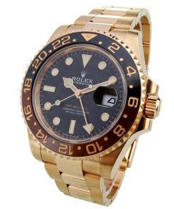 Replica horloge Rolex Gmt-Master ll 09/1 (40mm) 126715CHNR Rose Gold Root beer -Automatic-Top kwaliteit!