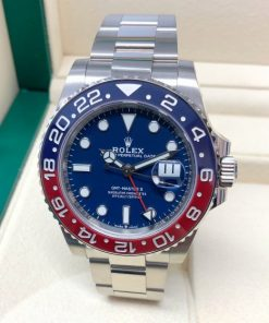 Replica horloge Rolex Gmt-master ll 01/1 (40mm) 126719BLRO Pepsi cola rood/blauw Oyster band automatic -Top kwaliteit!