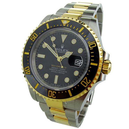 Replica horloge Rolex Sea Dweller 01/1 (43mm) Rolesor 126603 Bi-color Yellow gold- Automatic-2020-Zwarte wijzerplaat-Top kwaliteit!