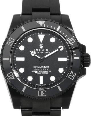 Replica horloge Rolex Submariner 15 Date (40mm) Date 114060 Black-PVD DLC steel- Automatic-Top kwaliteit!