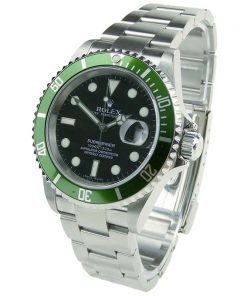 """Rolex Submariner 02 (40mm) 16610 LV Date """"Kermit"""" Groene bezel- Oyster Perpetual-50th anniversary-Automatic-Top kwaliteit!"""