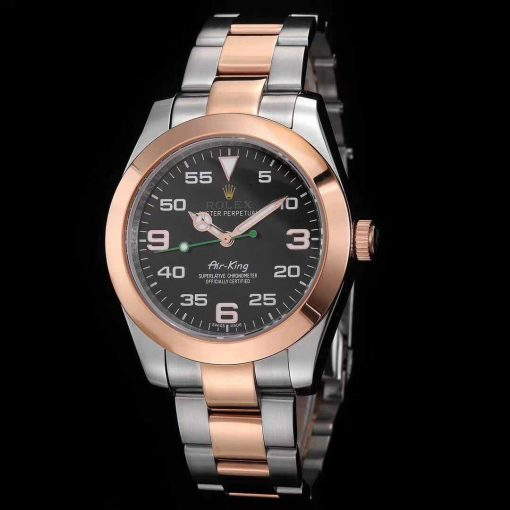 Replica horloge Rolex Air King 02 (40mm) 116900 (2021) Bi color Rose gold Oyster band-Automatic-Top kwaliteit!