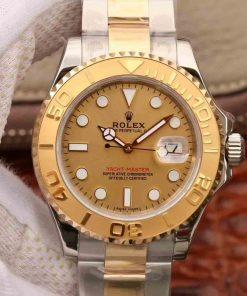 Replica horloge Rolex Yacht master 11 (40mm) 116623 Champagne wijzerplaat Oystersteel-staal-Yellow gold Bi-Color-Automatic-Top kwaliteit!