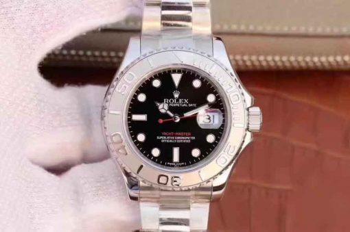 Replica horloge Rolex Yacht master 12 (40 mm) 126622 Zwarte wijzerplaat-Oystersteel-automatic-Top kwaliteit!